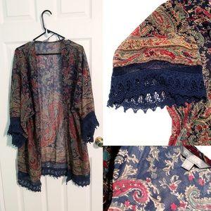 Paisley and Fringe Kimono